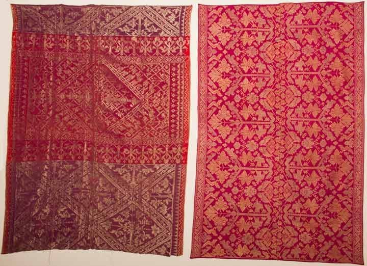 TWO BROCADE TEXTILES, INDONESIA, EARLY 20TH C