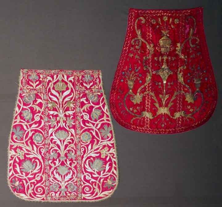 TWO ECCLESIASTICAL TEXTILES, EUROPE, 1690-1775