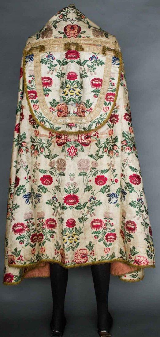 SILK BROCADE COPE, RUSSIA, 1750-1775