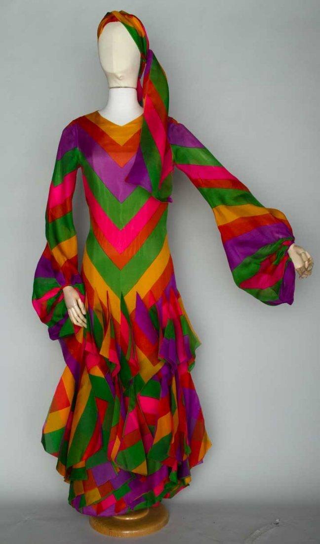 PIERRE CARDIN COUTURE EVENING DRESS, PARIS, 1970s