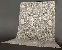 NEEDLE LACE BANQUET CLOTH, ITALY, c. 1900