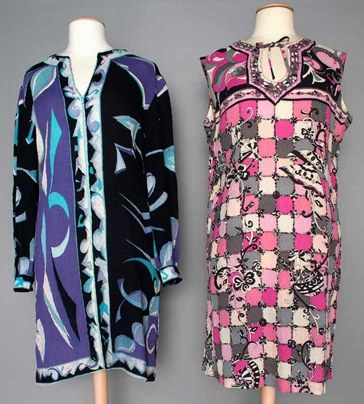 TWO PUCCI PRINTED DAY DRESSES, c. 1970