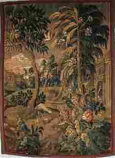 AUBUSSON SCENIC TAPESTRY, 19TH C