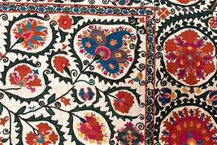 EMBROIDERED SUZANI, CENTRAL ASIA, c. 1900