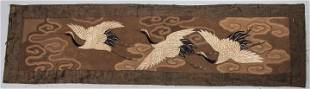 EMBROIDERED PANEL, JAPAN, 19TH C