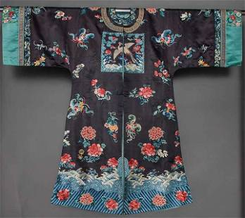 LADY'S EMBROIDERED ROBE, CHINA, 1890-1910