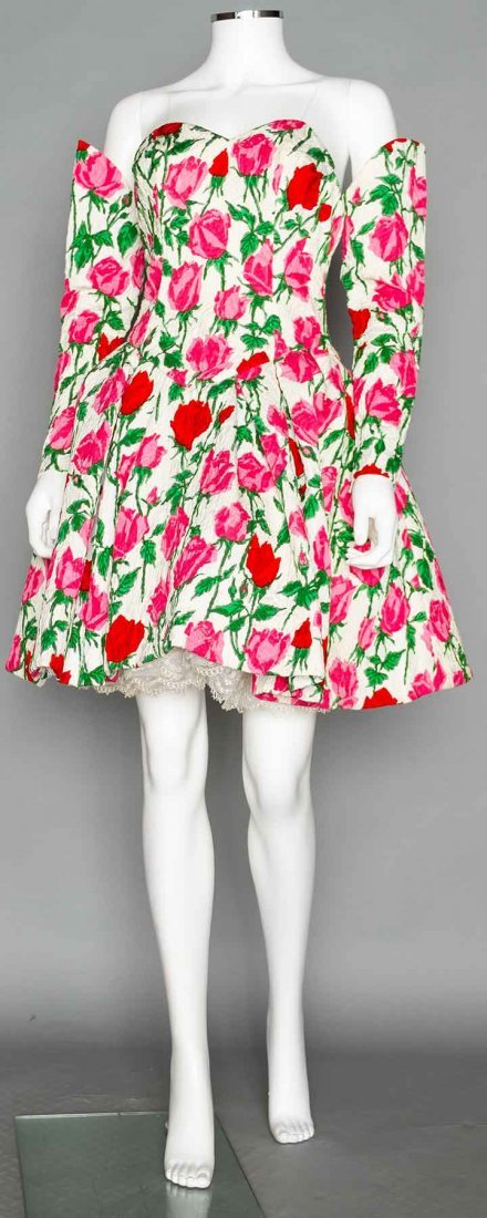 CHRISTIAN LACROIX PARTY DRESS & SLEEVES, 1988s