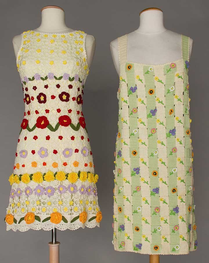 TWO MOSCHINO CROCHET DRESSES