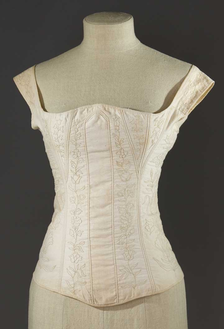 HAND EMBROIDERED CORSET, 1815-1825