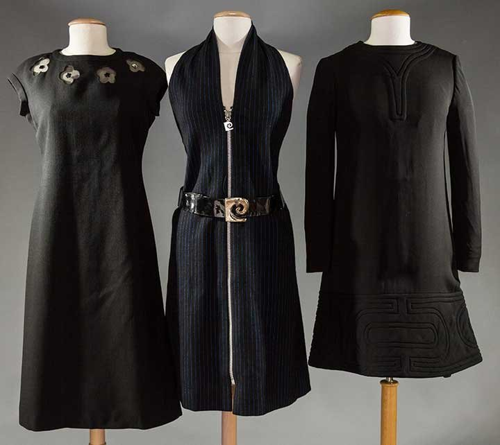 TWO CARDIN & ONE COURREGES DRESSES, 1960-1970s