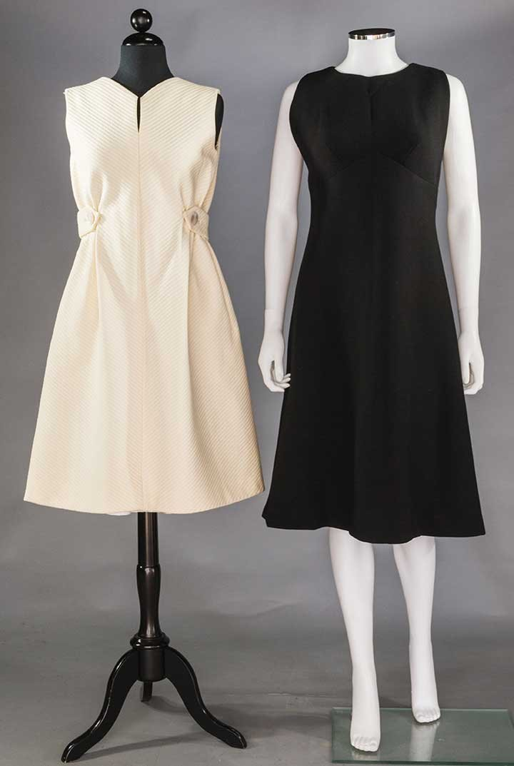 TWO PAULINE TRIGERE DAY DRESSES, 1960s