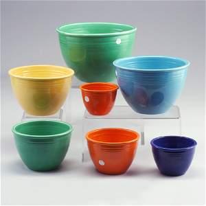 3: Rare set of 7 FIESTA mixing bowls (stackin