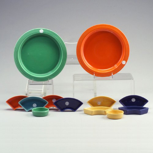 9: 2 FIESTA 11² 6-piece condiment trays: one