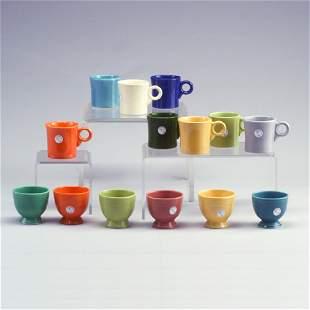 14 FIESTA cups: 8 mugs, 6 custards in ass