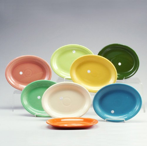 16: 8 FIESTA oval serving platters in chartre