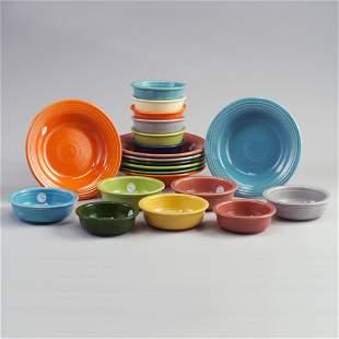 21 FIESTA bowls eight 8 1/4² soup bowls,