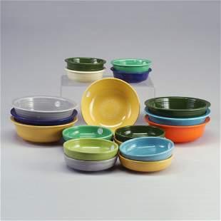19 FIESTA bowls: six 8 1/2² vegetable bow