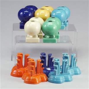 15 FIESTA candleholders: 5 pairs spherica