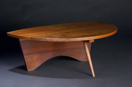 6: GEORGE NAKASHIMA Very early Conoid coffee table with