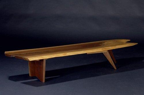 12: GEORGE NAKASHIMA Walnut Slab coffee table, 1966, wi