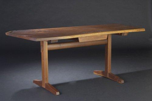 18: GEORGE NAKASHIMA Walnut single-drawer writing table