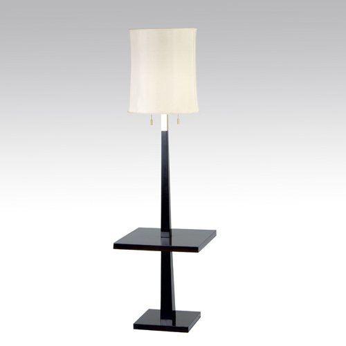 TOMMI PARZINGER Mahogany veneer floor lamp with in