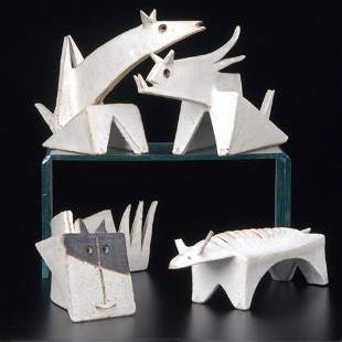 427: BRUNO GAMBONE Four whimsical animal figurines