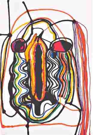 606: Alberto Burri (Italian, 1915-1995) Saffo, 1973; Po