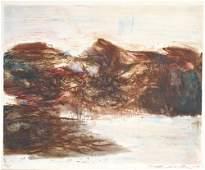 634: Zao Wou-ki (Chinese, b. 1921) Untitled, 1968; Lith