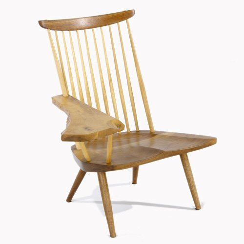 1000: NAKASHIMA STUDIOS Walnut spindle-back chair with
