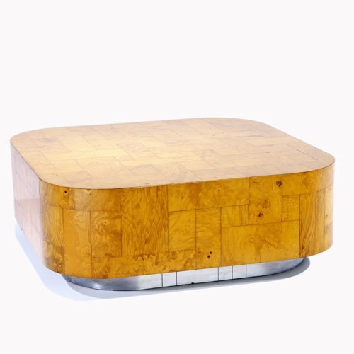 1012: PAUL EVANS Cityscape coffee table with recessed b