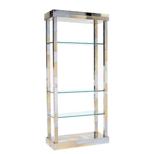1018: PAUL EVANS Cityscape etagere with glass shelves.
