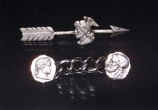 STERL VICTORIAN PIN ROMAN SOLDIERS
