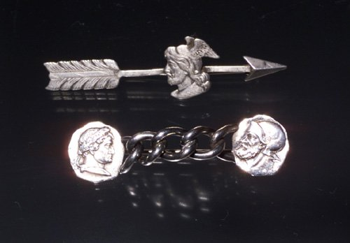 708: STERL VICTORIAN PIN ROMAN SOLDIERS