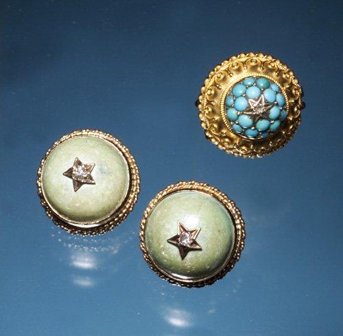 709: TURQUOISE & DIAMOND STAR JEWELRY