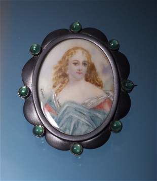 VICTORIAN SIGNED MINIATURE ON IVORY