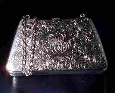 KERR SIGNED STERLING PURSE C. 1900