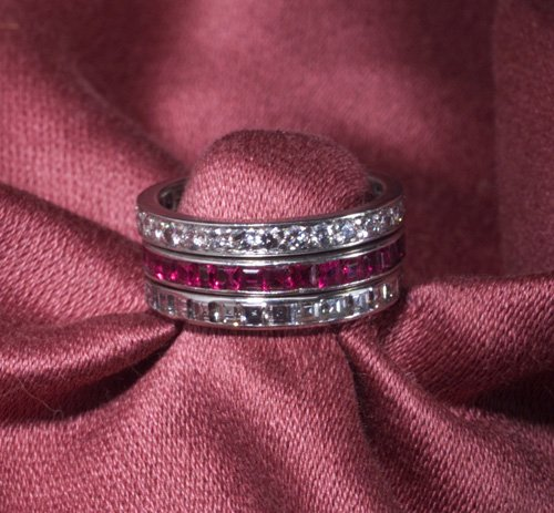 989: TIFFANY DIAMOND ETERNITY BANDS PLATINUM