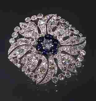 PERIOD 2CT ART DECO PLATINUM DIAMOND SA