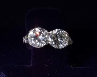 4 CARAT DIAMOND AND PLATINUM RING