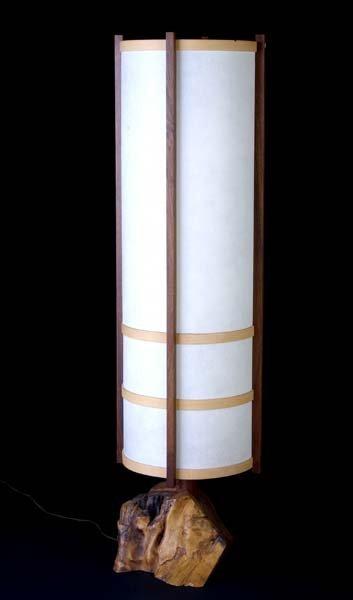 6: GEORGE NAKASHIMA Walnut Kent Hall floor lamp on burl