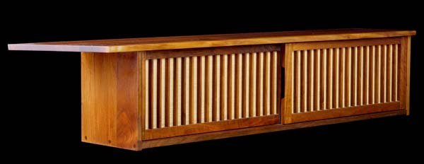 12: GEORGE NAKASHIMA Walnut wall-hanging cabinet with t