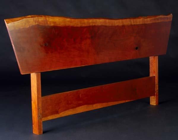 19: GEORGE NAKASHIMA Cherry free-edge Plank headboard.