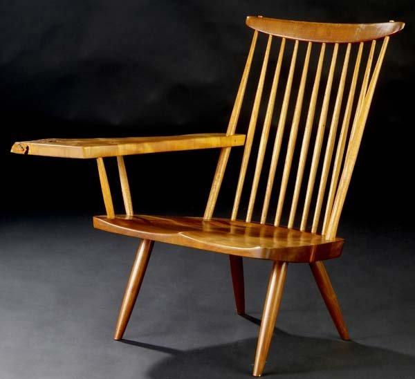 20: GEORGE NAKASHIMA Walnut lounge chair with free-edge