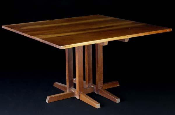 "22: GEORGE NAKASHIMA Walnut Frenchman's Cove table. 28"""