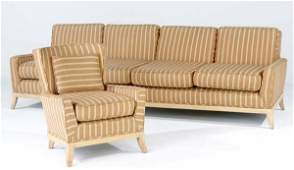 113: TOMMI PARZINGER Fine four-seat sofa and matching a