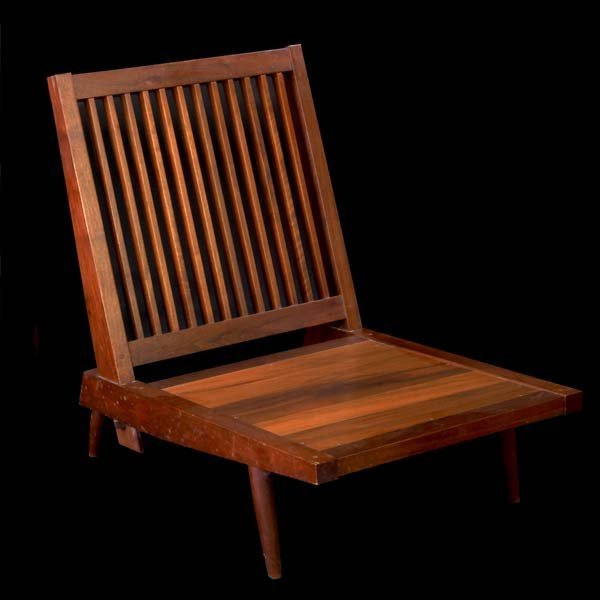 1001A:  GEORGE NAKASHIMA Walnut Cushion Chair without a