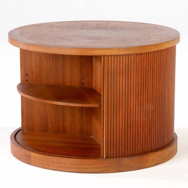 1020: VLADIMIR KAGAN / DREYFUSS Cylindrical end table w