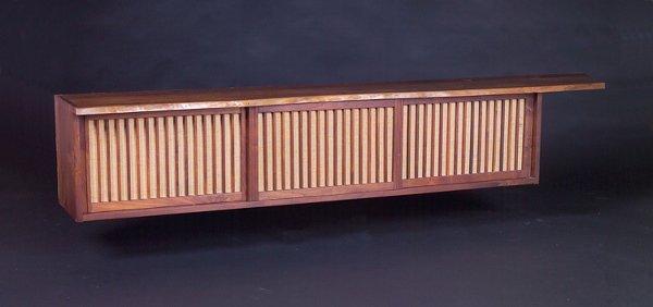 2: GEORGE NAKASHIMA Walnut wall-hanging cabinet with pi