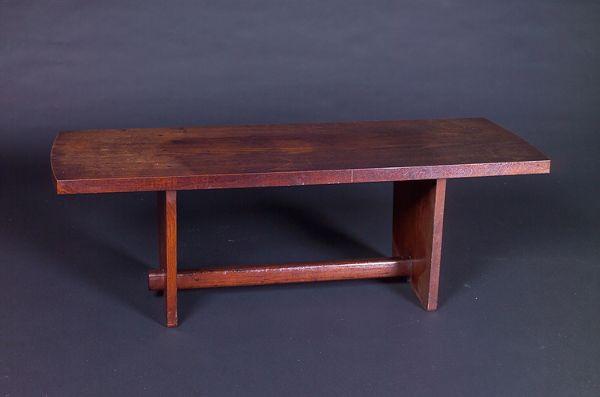 GEORGE NAKASHIMA Walnut bench with rectangular top o